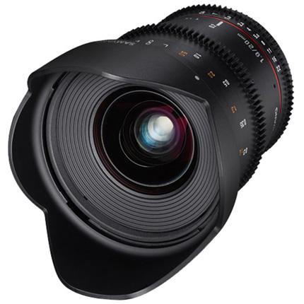 Samyang 20mm T1.9 VDSLR ED AS IF UMC Cine Lens Canon EF