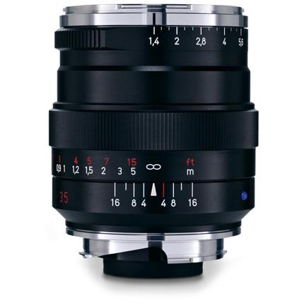 Zeiss Distagon T* 35mm f/1.4 ZM Lens Black Leica M