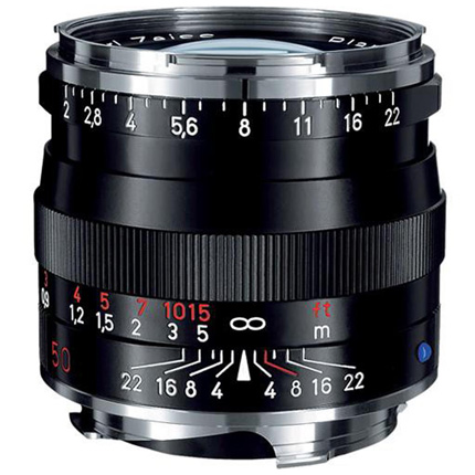 Zeiss Planar T* 50mm f/2 ZM Lens Black Leica M