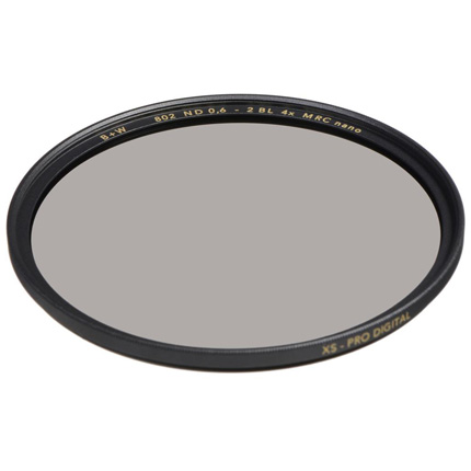 B+W 55mm XS-Pro 802 Neutral Density 0.6 Filter MRC-Nano (2-Stop)