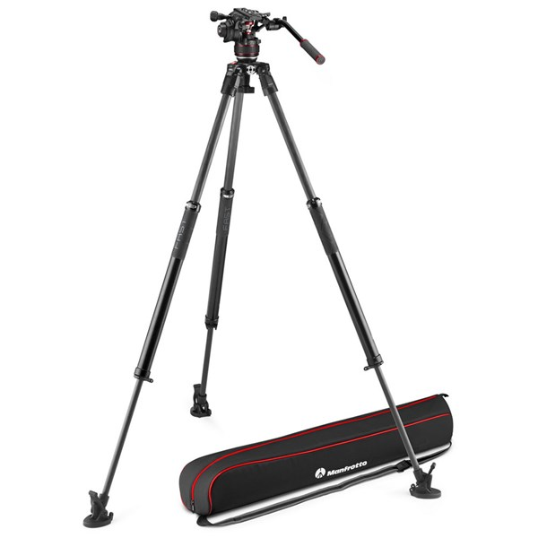 Manfrotto Nitrotech 608 series with 645 Fast Twin Carbon Tripod