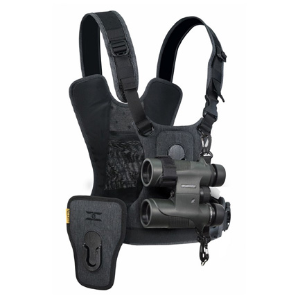 Cotton Carrier Camera Harness System G3 Charcoal Grey - 1 Camera and Binoculars