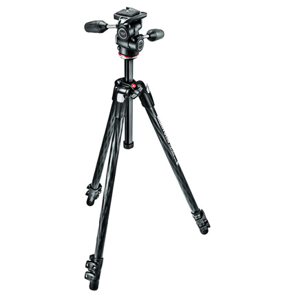 Manfrotto MK290XTC3-3W 290 Xtra Carbon Fibre Tripod and 3-Way Head Kit