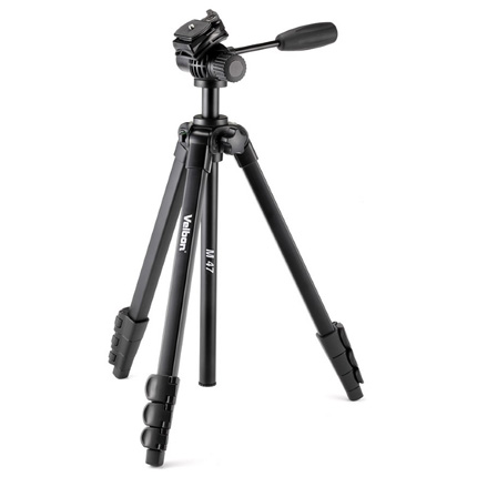 Velbon M47 Aluminium Tripod with 2-Way Fluid Video Head