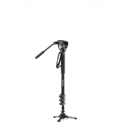 Manfrotto XPRO 4 Section Aluminium Video Monopod with XPRO 2-Way Head
