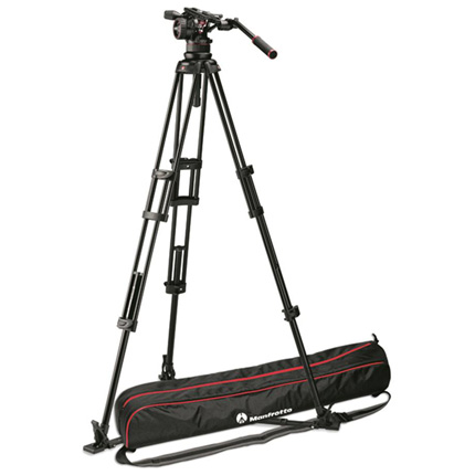 Manfrotto Nitrotech N12 Fluid Head with 545 2-Stage Aluminium Tripod Kit