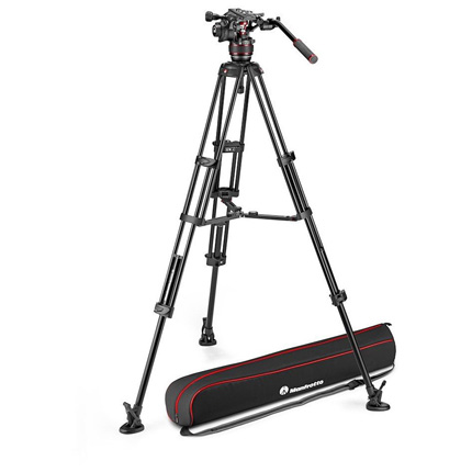Manfrotto MVK608TWINMA Nitrotech 608 Head and Aluminium Twin Leg Middle Spreader