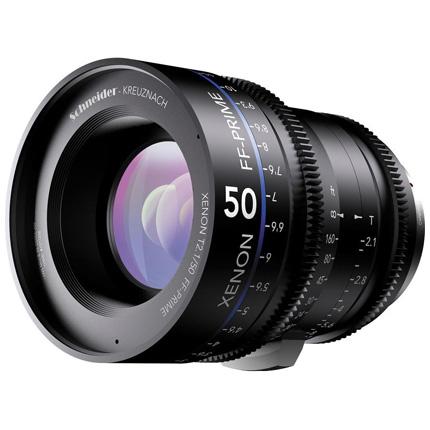 Schneider Xenon FF 50mm T2.1 Lens with Nikon F Mount (Metres)