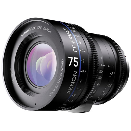 Schneider Xenon FF 75mm T2.1 Lens with PL Mount (Metres)