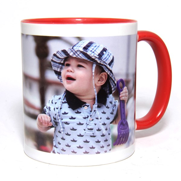 Instore Inner Rim Colour Mug - Red