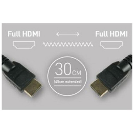 Atomos Coiled Full HDMI To Full HDMI Cable (30-45cm)