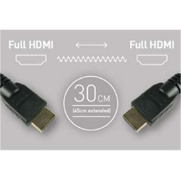 Atomos Coiled Full HDMI To Full HDMI Cable (30-45cm) Open Box