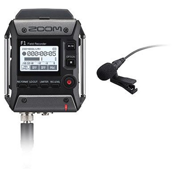 Zoom F1-LP Field Recorder And Lavalier Mic Kit