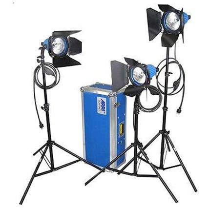 Arrilite 750 Plus 3 Light Kit with Wheeled Case
