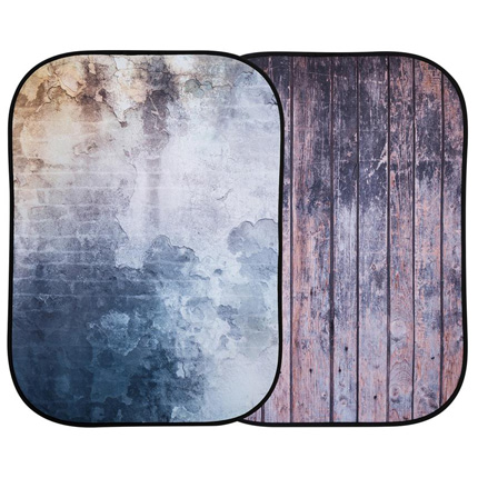 Lastolite Urban Collapsible Background 1.5x2.1m Derelict Wall/ Wooden Fence LL LB5715