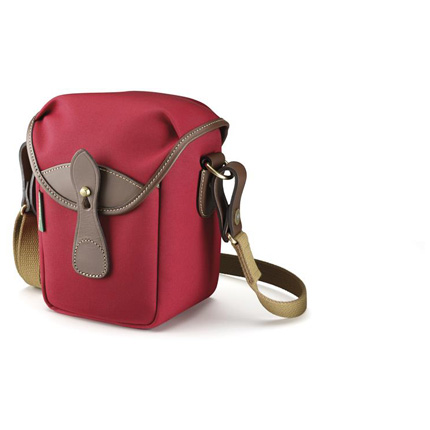 Billingham 72 Shoulder Bag - Burgundy Canvas/Chocolate