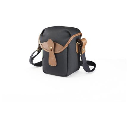Billingham 72 Shoulder Bag - Black Canvas/Tan