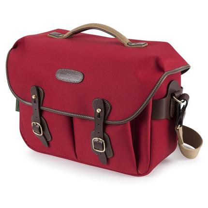 Billingham Hadley One Shoulder Bag - Burgundy Canvas/Chocolate