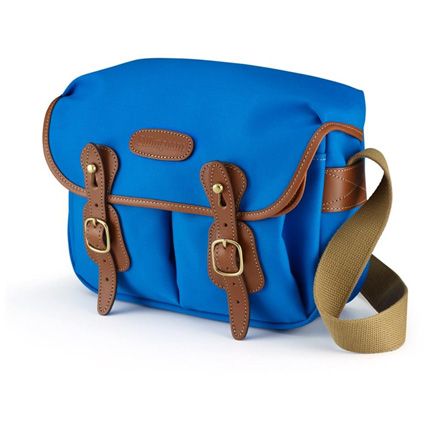 Billingham Hadley Small Shoulder Bag - Imperial Blue Canvas/Tan