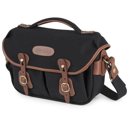 Billingham Hadley Small Pro Shoulder Bag - Black Canvas/Tan