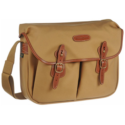 Billingham Hadley Large Shoulder Bag - Khaki Canvas/Tan