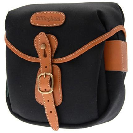 Billingham Hadley Digital Shoulder Bag - Black Canvas/Tan