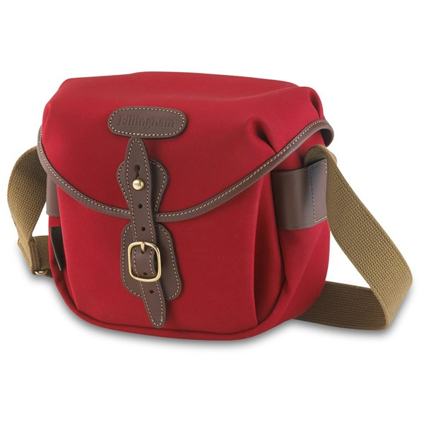 Billingham Hadley Digital Shoulder Bag - Burgundy Canvas/Chocolate