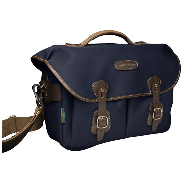 Billingham Hadley One Shoulder Bag Navy Canvas/Chocolate