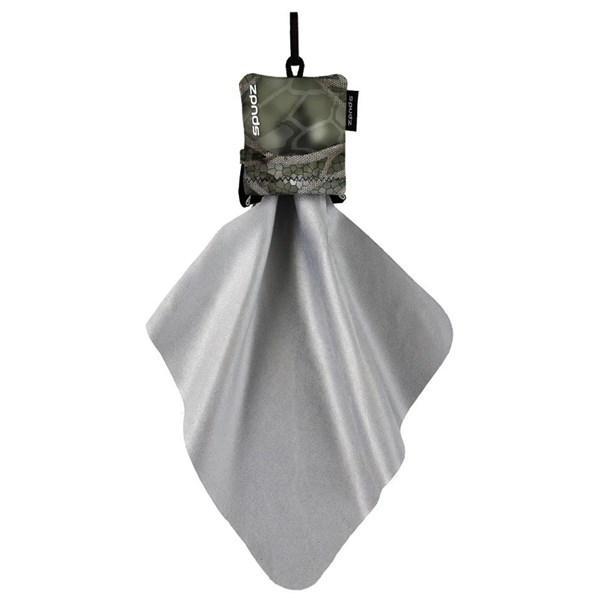 Spudz 10 x 10 Ultra Lens Cloth In Pouch (Vanish Olive)