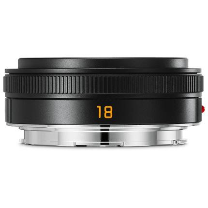 Leica Elmarit TL 18 mm f/2.8 ASPH Pancake Lens Black Anodised