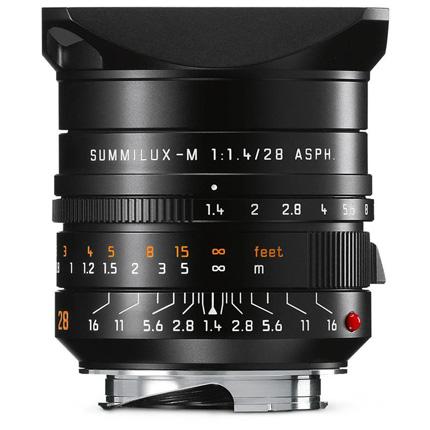 Leica Summilux M 28mm f/1.4 ASPH Lens Black Anodised