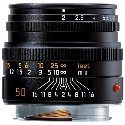 Leica Summicron M 50mm f/2 Lens Black Anodised