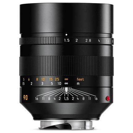 Leica SUMMILUX-M 90mm lens f/1.5 ASPH Black Anodised