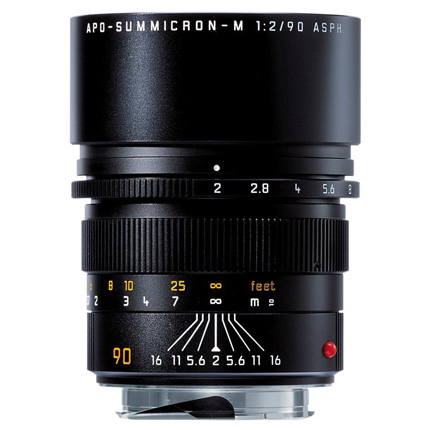 Leica APO Summicron-M 90mm f/2 ASPH Lens Black Anodised