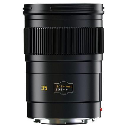 Leica Summarit S 35mm f/2.5 ASPH Lens Black Anodised