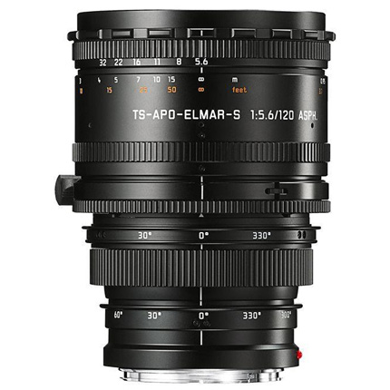Leica 120mm f/5.6 TS APO Elmar S ASPH Lens Black Anodised