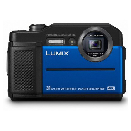 Panasonic Lumix DC-FT7 Waterproof Tough Camera Blue