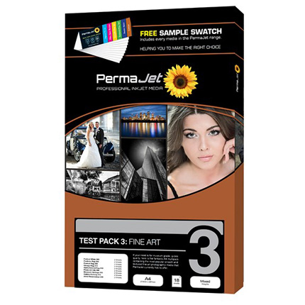 PermaJet Test Pack 3 - Fine Art A4 18 Sheets