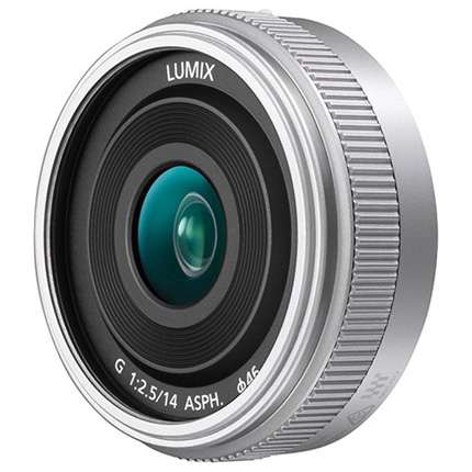 Panasonic Lumix G 14mm f/2.5 ASPH II Pancake Lens Silver