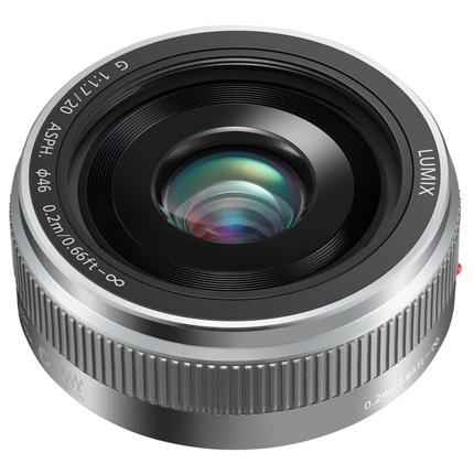 Panasonic Lumix G 20mm f/1.7 II ASPH Pancake Lens Silver