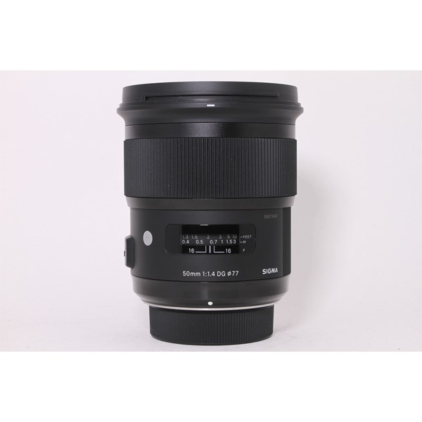 Used Sigma 50mm F/1.4 DG HSM Art Nikon Fit - Boxed