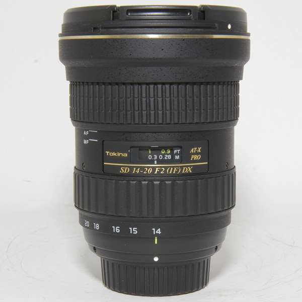 Used Tokina AT-X 14-20mm f/2 PRO DX Lens for Nikon F Mount