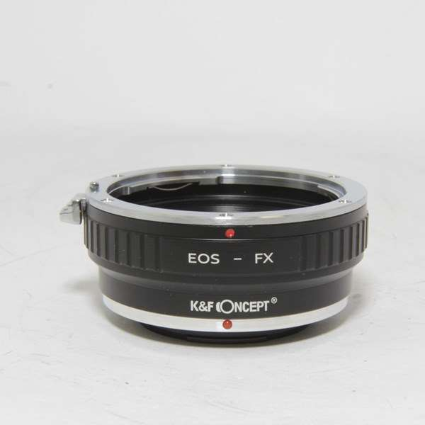 Used K&F Concept Canon EF to Fuji FX Lens Adapter