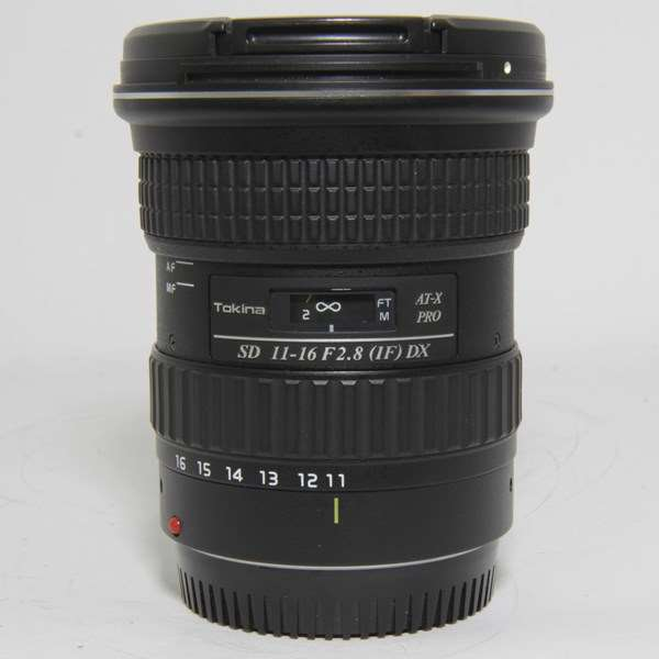 Used Tokina 11-16mm f2.8 IF DX Pro SD Lens Canon EF Fit