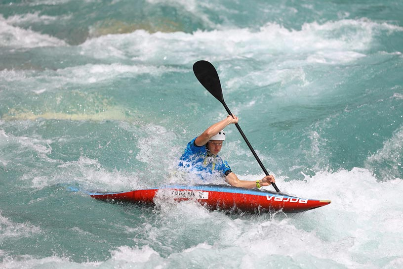 Kayaker action with 300mm lens