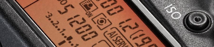 Canon EOS-1DX Mark II ISO selector button close up